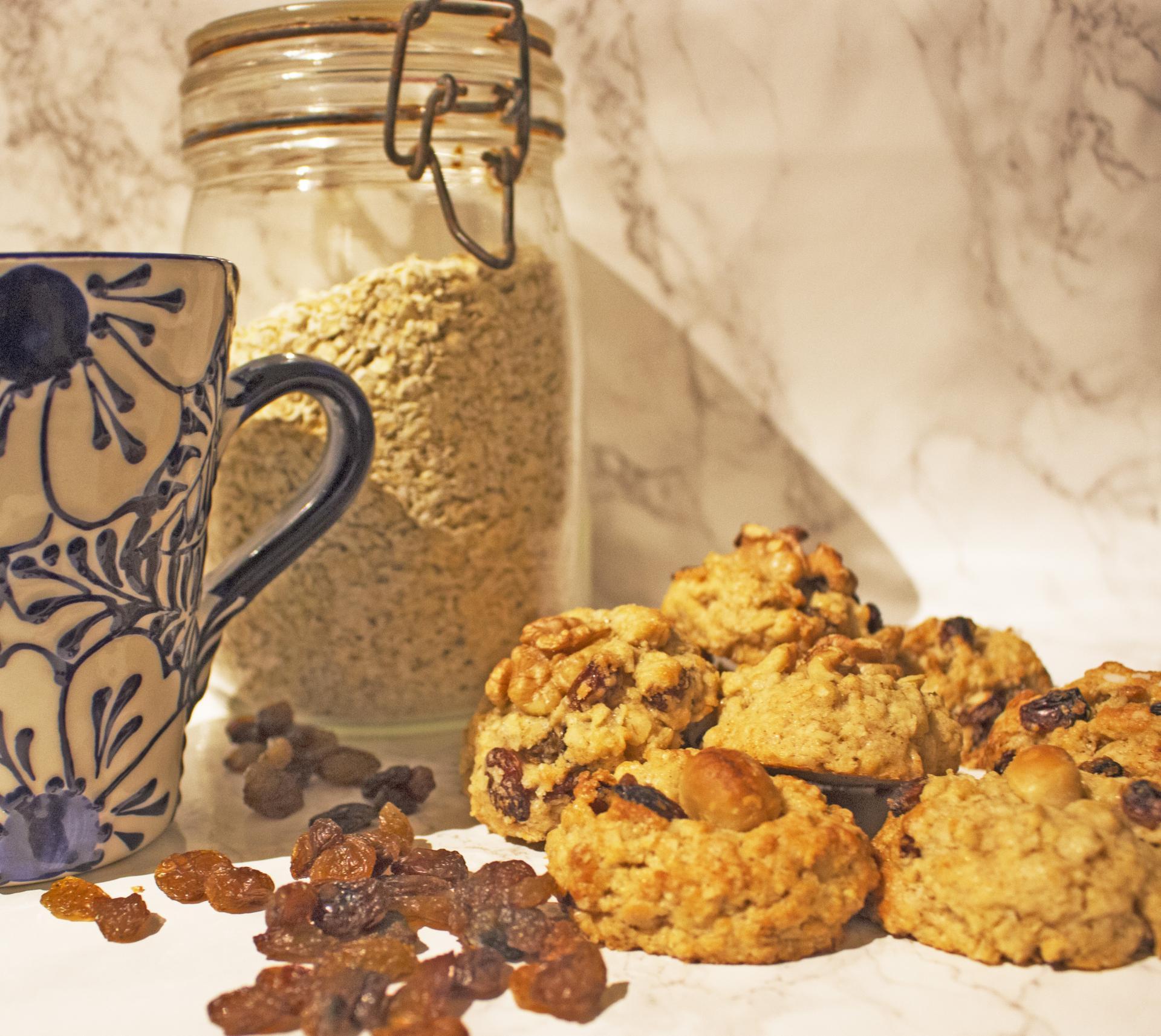 Cookies à l'Avoine et aux Raisins Secs