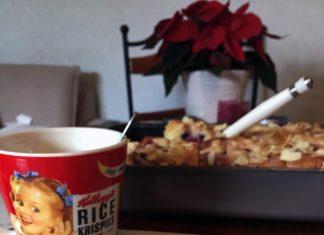 américain sweet rolls roulés aux myrtilles