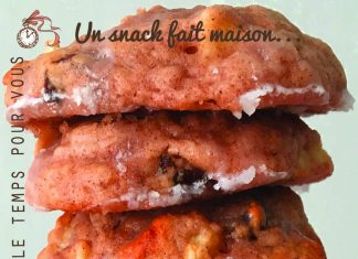 recette cookie facile pomme raisins secs