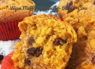 recette vegan muffin citrouille raisin coco