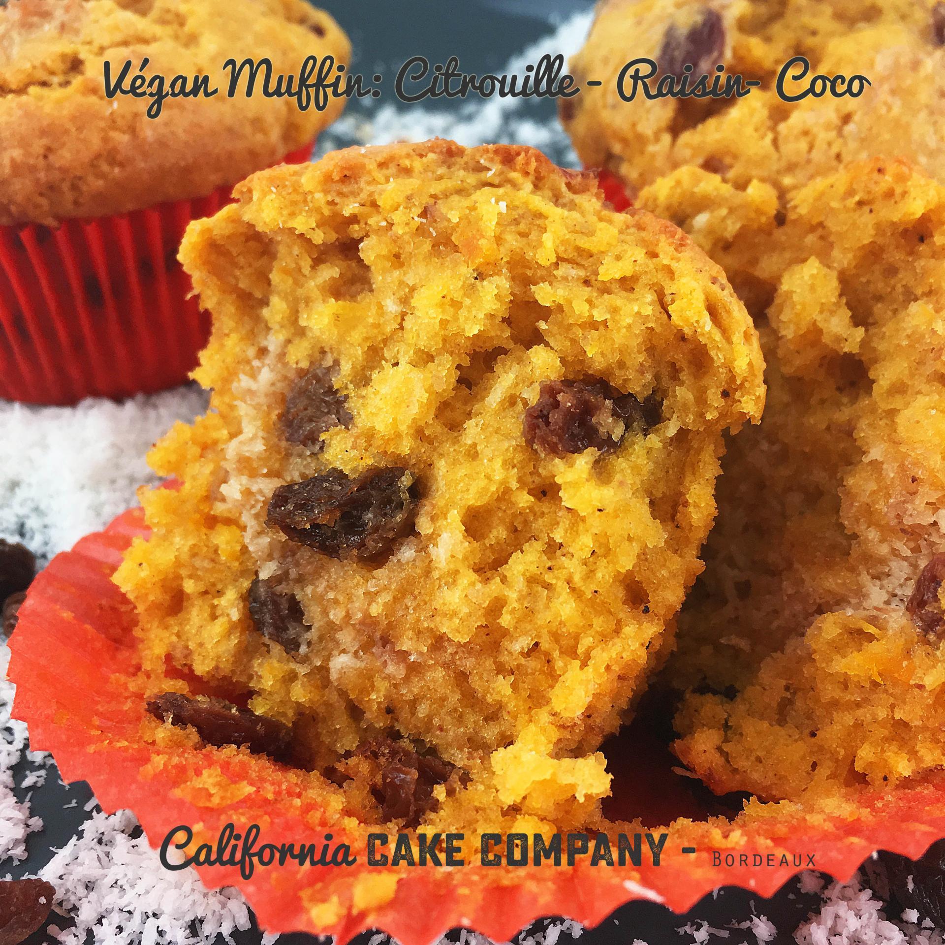Végan Muffin : Citrouille – Raisin – Coco