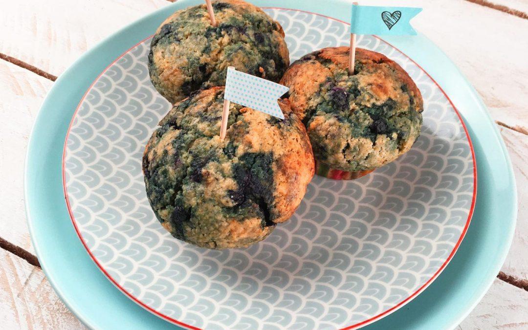 Muffins façon pain de maïs aux myrtilles